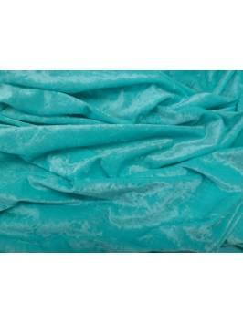 Aqua Crushed Velvet Material