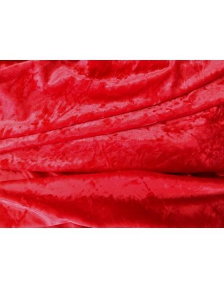 Dark Red Crushed Velvet