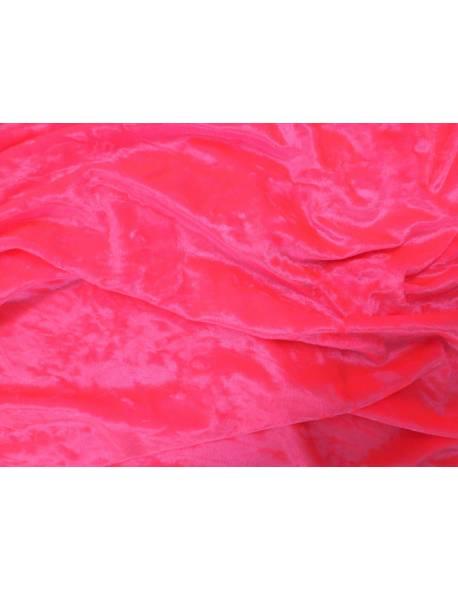 Flo Pink Crushed Velvet
