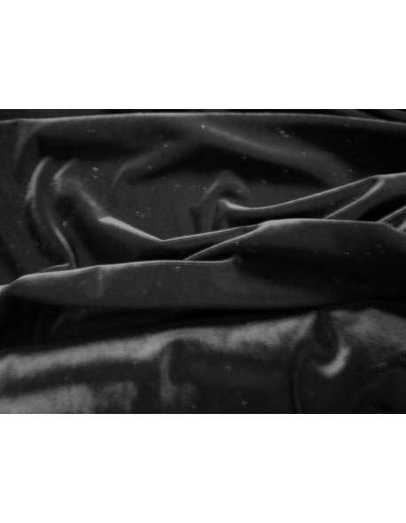 Black Smooth Velvet Material