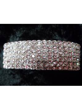 6 Row Crystal Elasticated Bracelet