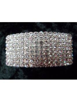 8 Row Crystal Elasticated Bracelet