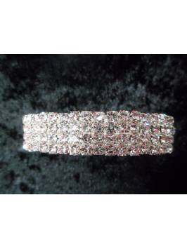 4 Row Crystal Elasticated Bracelet