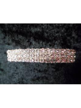 3 Row Crystal Elasticated Bracelet