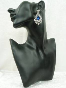Sapphire & Crystal Earrings