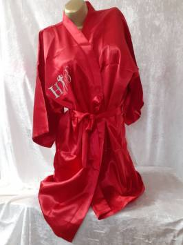 Red Satin Robe