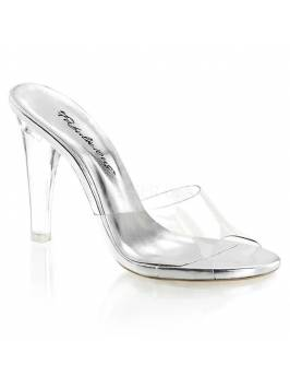 "Clearly - 401, 4.5"" Heel, 1/4 "" Platform"