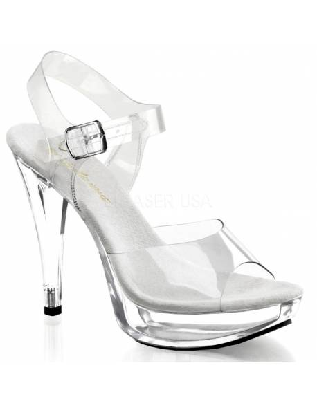 1 inch Platform Posing Shoe with a 5 inch heel and an ankle strap